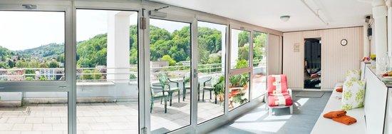 Hotel Linde: Sauna mit Panoramasicht