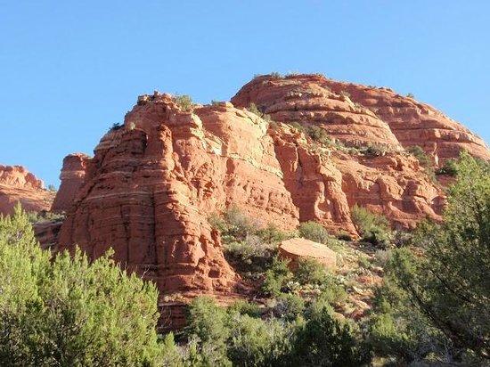 Fay Canyon Trail: Sun hitting the Ridge
