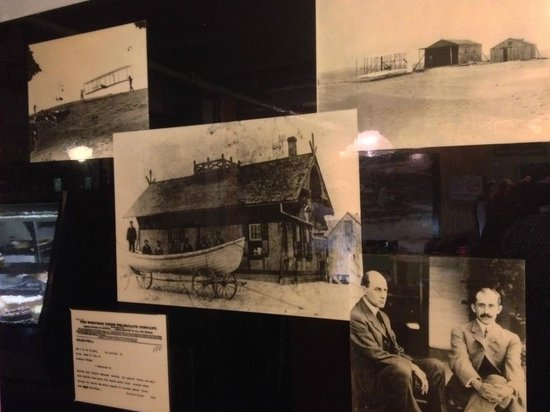 Black Pelican Oceanfront Restaurant: Historic photos document the restaurant's Wright Brothers connection.