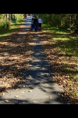 Neuse River Trail : Perfect place for a family stroll on a fall day