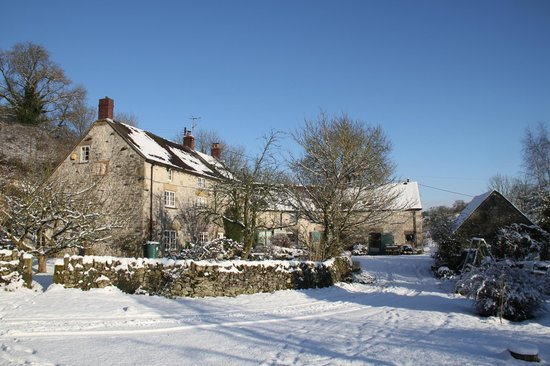 Tom's Barn and Douglas's Barn: Orchard Farm in the snow
