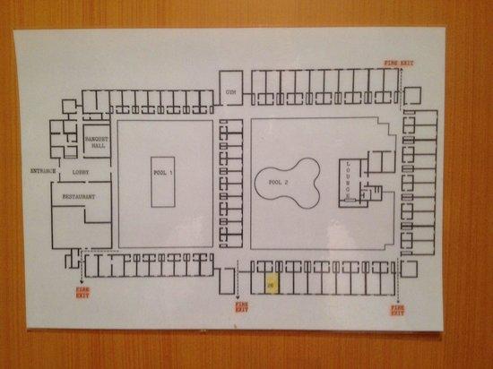 Falaj Daris Hotel: Traditionele plattegrond.