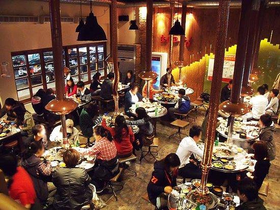 Sinpo Choigozip Gwangmyeong Cheolsan: Inside of the restaurant