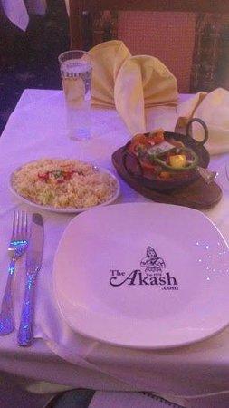 First dinner at The Akash Restaurant