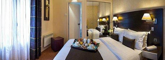 Hotel Magellan: chambre double et petit déjeuner room service