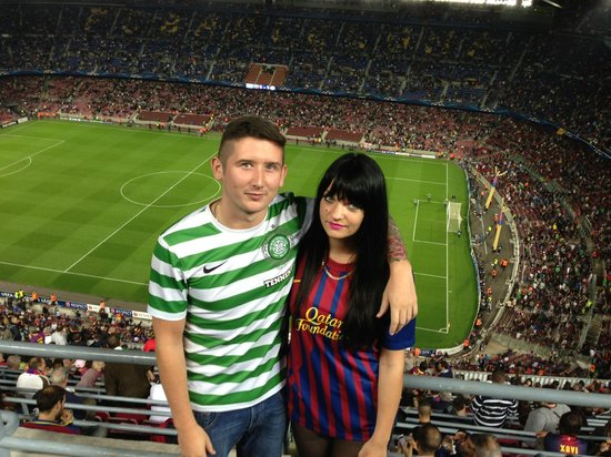 Barcelona Central Garden : Nou Camp - Celtic! (so unlucky that night)