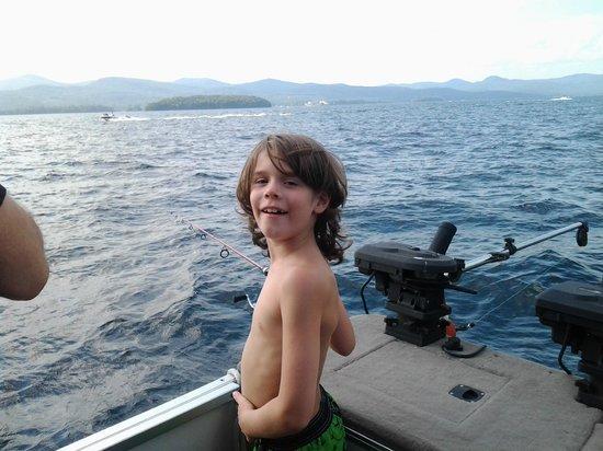 Flamingo Resort on Lake George : Fishing in Lake George. Thanks for the ride George at Flamingo Resort!!!