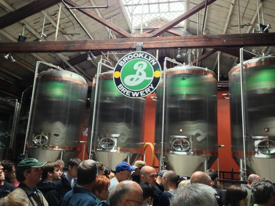 Brooklyn Brewery: Fermenting tanks