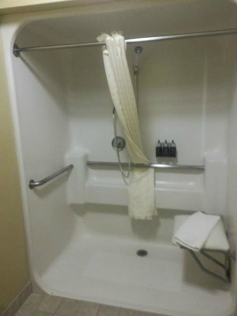 Oxford Suites Chico: large roll in shower
