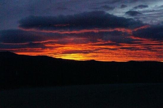 1st Alaska Outdoor School: sunset in the artic circle