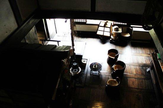 Kawai Kanjiro Memorial Museum: View of the living room of the memorial