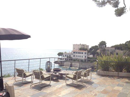 La suite Cassis: the terrace with a view