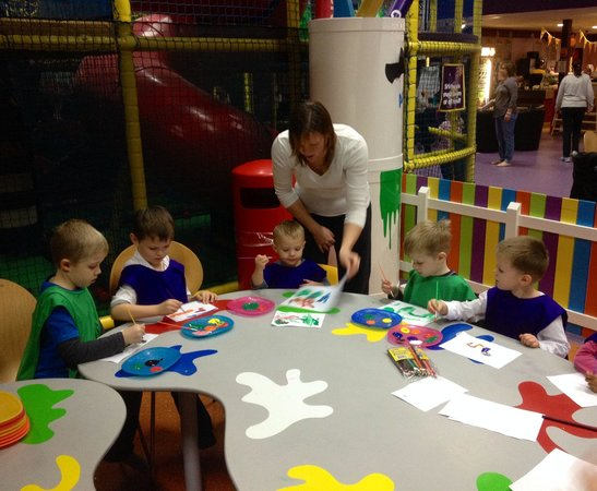 Partyman World Of Play: Our kids enjoying painting
