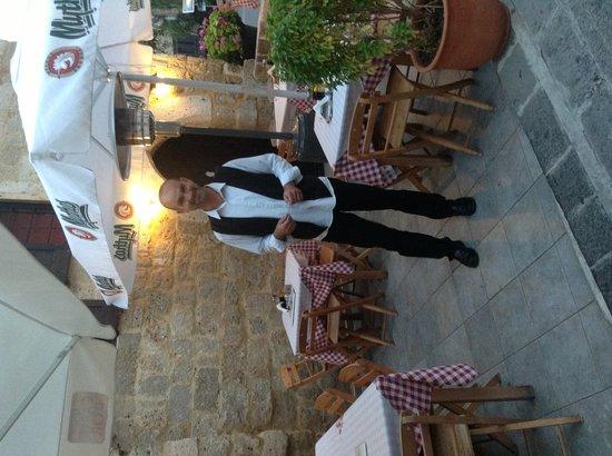 Ouzokafenes: Our waiter christos