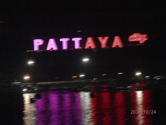 The Bayview Hotel: looking from our balcony across Pattaya