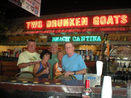 Two Drunken Goats Beach Cantina: Happy travelers.....