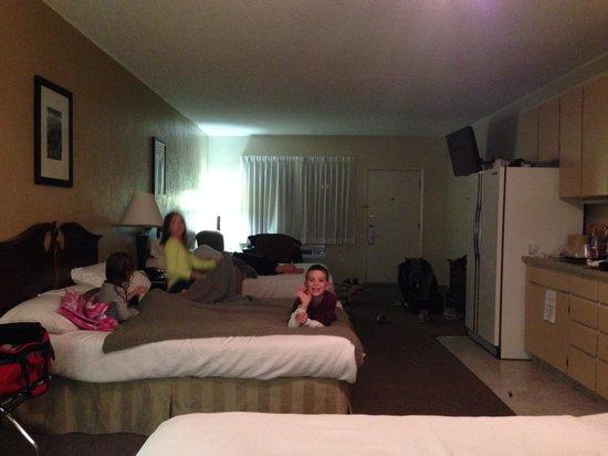 BEST WESTERN Dinosaur Inn : The kids getting ready for bed