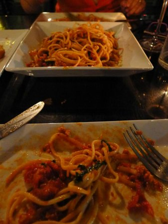 PUBLIC eat+drink: Linguine with magical sausage.