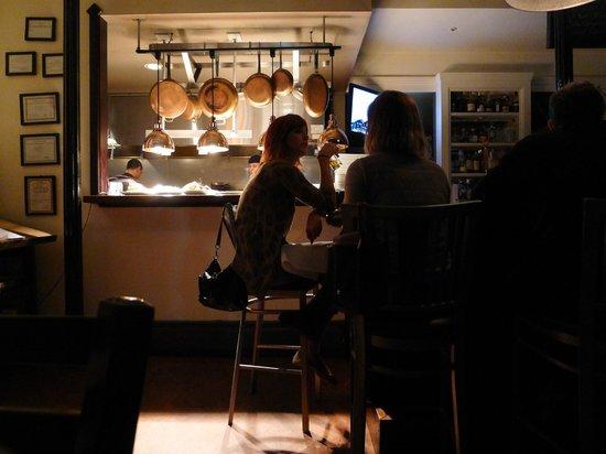 PUBLIC eat+drink: Public view of open kitchen.