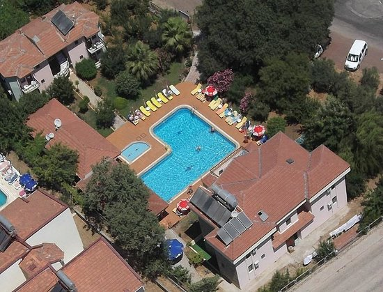 Ozturk Hotel Hisaronu: HOTEL VIEW FROM MICROLIGHT