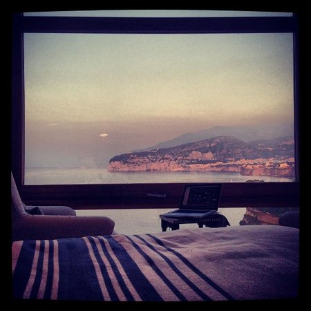 Maison La Minervetta: view from our bed - it's much better in real life