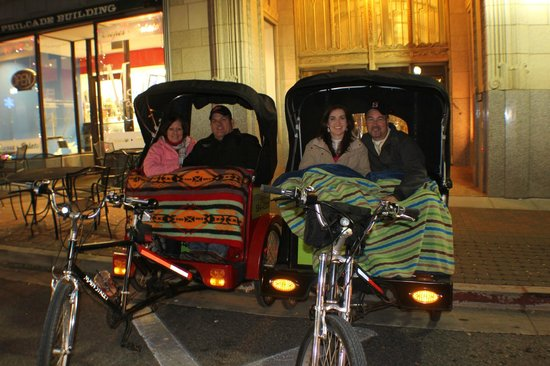 Tulsa Pedicabs Restaurant Tours : Winter is the best time for a pedicab restaurant tour.