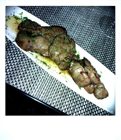 Pane E Olio: Picture is bad, but rabbit liver was excellent!