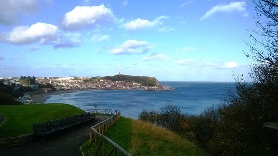 Mansion House Scarborough: View across to the Castle
