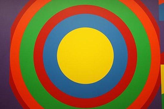 MASS MoCA: Oversized concentric circles.