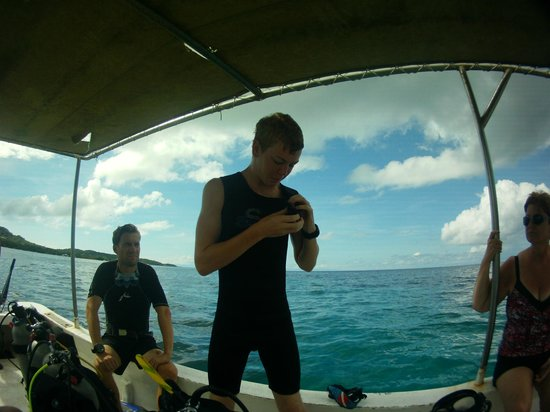 West End Divers: ready to dive
