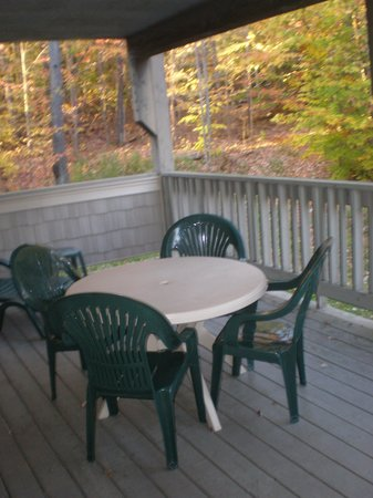 Mountainside Resort At Stowe: Private porch