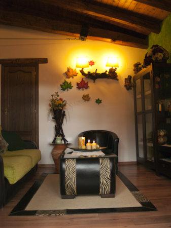 Apartamentos Rurales Acebo: SALON LA PARRA