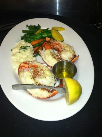 Depot Grill: 6oz Maine Lobster Tail with drawn butter and lemon