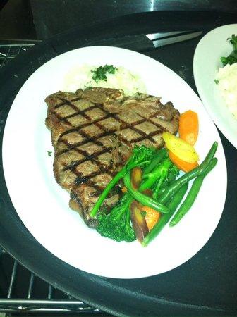 Depot Grill: 24oz Porterhouse Steak with house vegetables