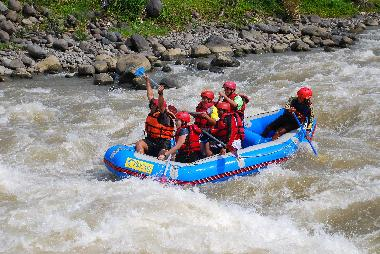 Rafting on Serayu River