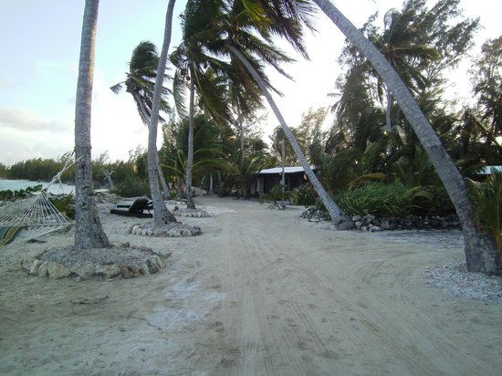 Small Hope Bay Lodge: Coming from the lodge to our room/path