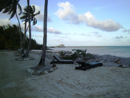 Small Hope Bay Lodge: View from our front door.