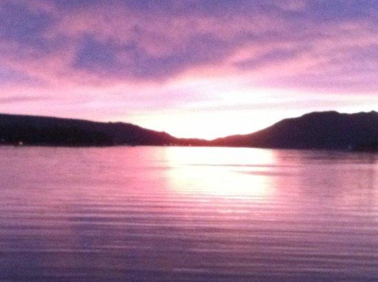 Sunset at Stanfield bridge, Big Bear Lake