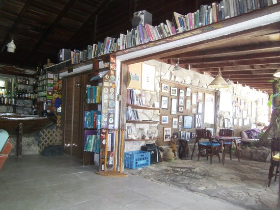 Small Hope Bay Lodge: HUGE selection of books to read and games to play