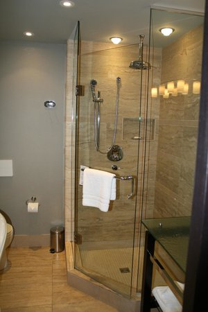 Shaw Club Hotel: Glass Shower
