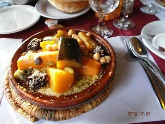 Restaurant Casablanca Francais : Vegetarian Couscous