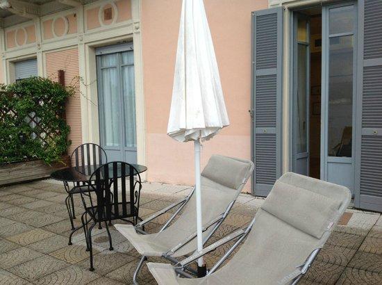 Hotel Metropole Bellagio: Large Terrace