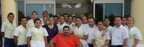 With Housekeeping Staff
