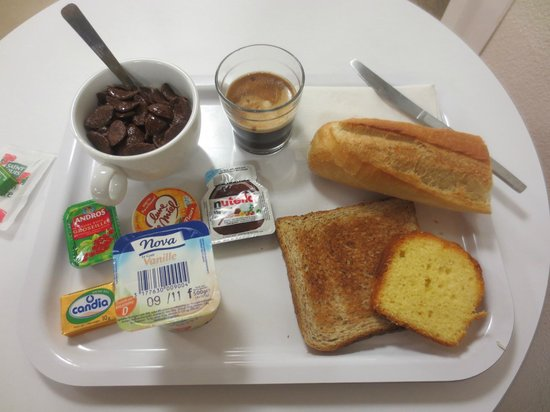 Premiere Classe Bayeux: My meal choice, but you can have whatever you want.