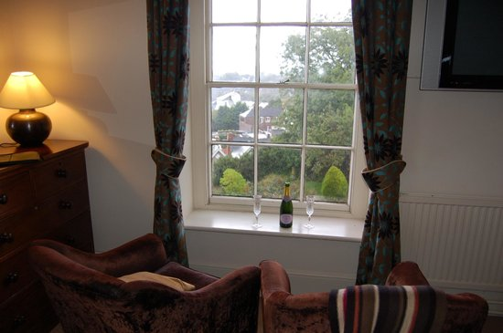 The Royal Hotel: View of one of the side windows in room 24