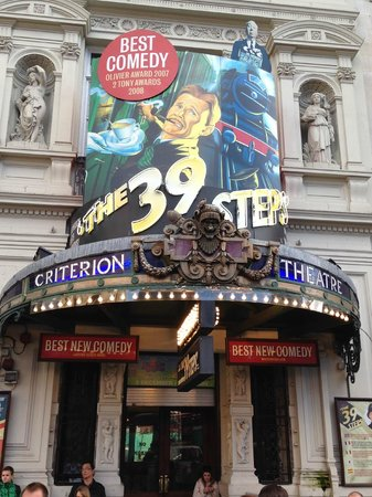 The 39 Steps: outside criterion theatre