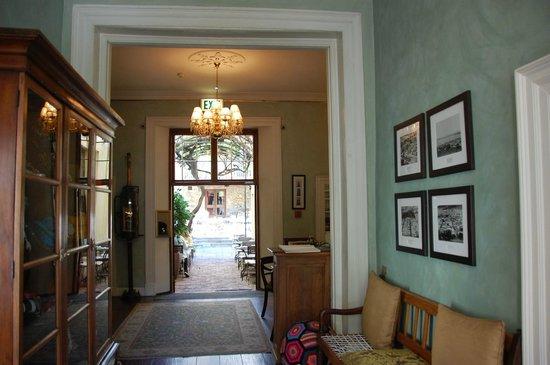 Cape Heritage Hotel : Eingangsbereich / Lobby mit Blick in den Innenhof
