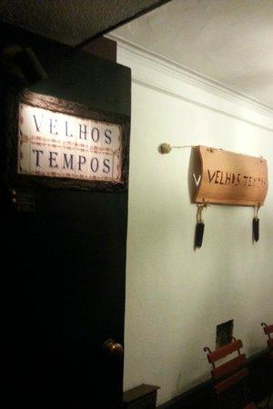Entrada do Restaurante Velhos Tempos - Braga