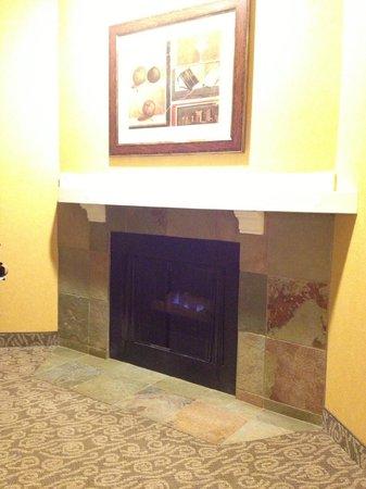 Fireside Inn on Moonstone Beach : Fireplace in the room