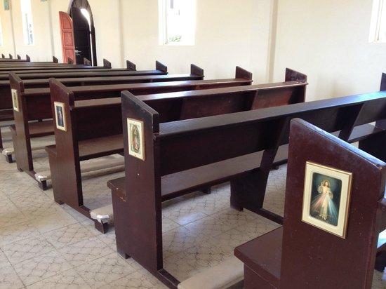 Mision de Nuestra Senora del Pilar: Detalles de las bancas